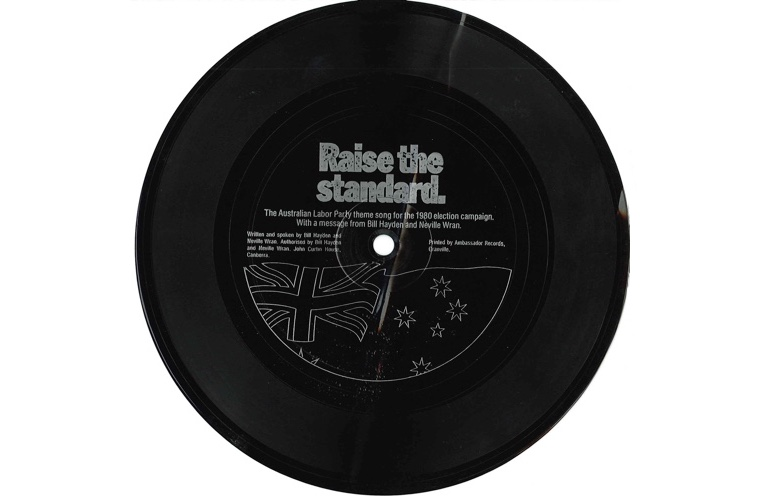 A long playing record issued in 1980 by the ALP