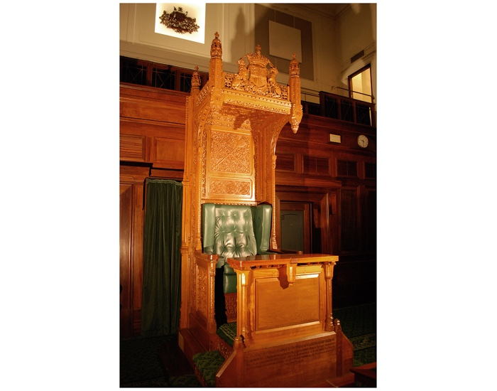 The Speaker's Chair in the House of Representatives today.