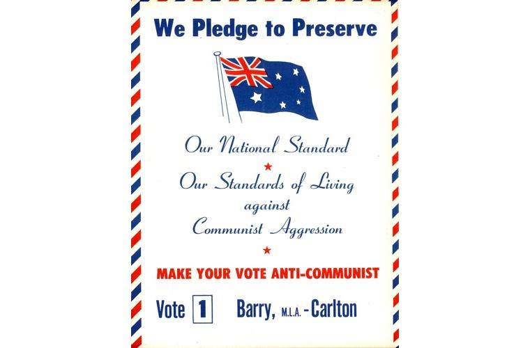 The Australian Labor Party (Anti-Communist) flyer