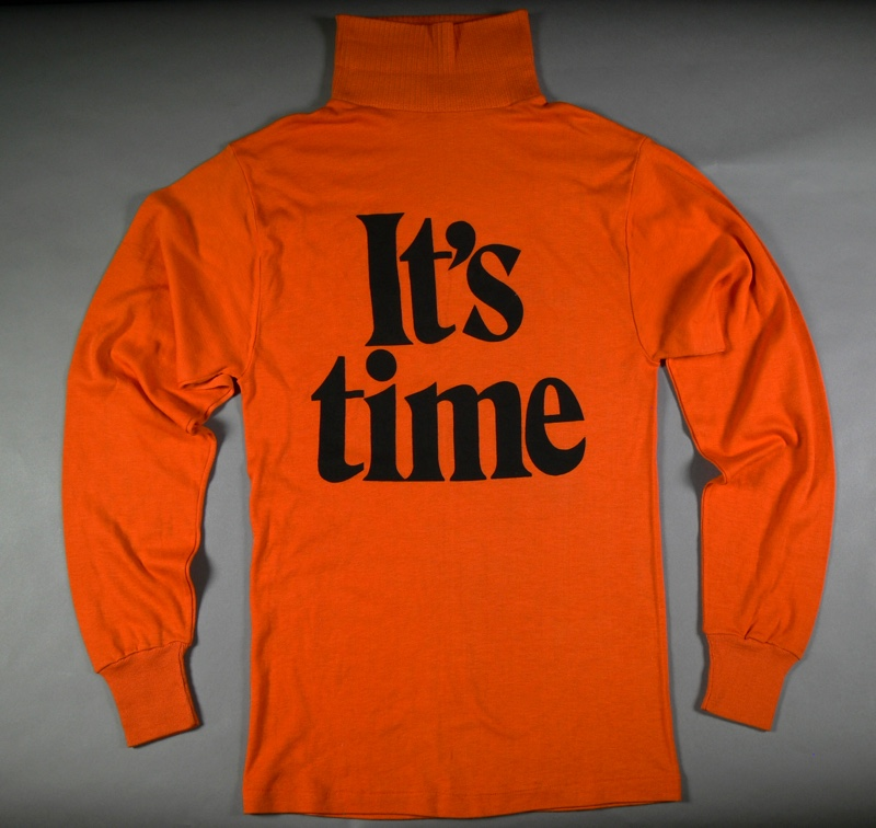 An 'It's Time' skivvy from the 1972 federal election campaign