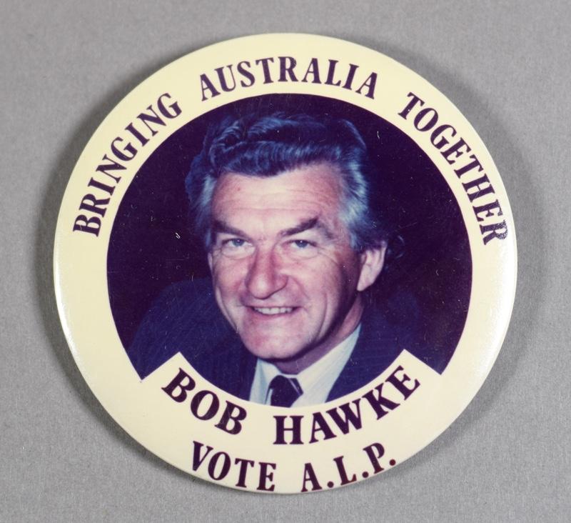 Bob Hawke Election Badge