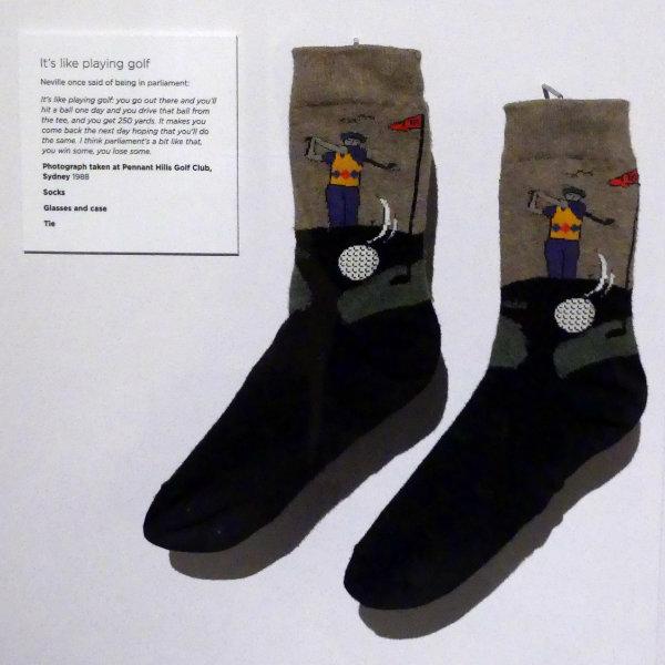 Neville Bonner's socks on display